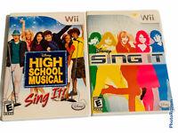 🔥Lot of 2 • Nintendo Wii Disney Sing It High School Musical • Dance Karaoke