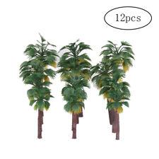 12Pcs Model Palm Tree Scenery Tree Mixed Model Trees DIY Landscape AM3