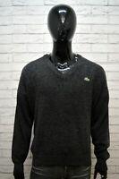 Maglione Grigio Uomo LACOSTE Taglia 7 ( XXL ) Pullover Sweater Man Cardigan Lana