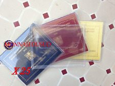 Lot 25x Pochettes PVC Plastique de Protection pour 2 Euro Vatican