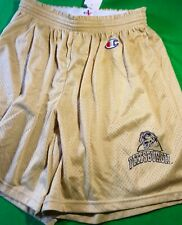 NWT CHAMPION NCAA PITTSBURGH PANTHERS MESH SHORTS - TAN - LARGE (36-38)