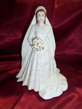 Royal Worcester HER MAJESTY QUEEN ELIZABETH II Royal Wedding Ceramic Figurine