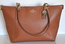 Coach Ava Saddle In Cross Grain Leather Tote/Shoulder Bag F35808 NWT