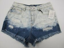 NWT Refuge Distressed  Button Denim Shorts Cheeky HiRise Charlotte Russe Size 2
