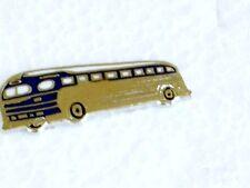 SILVERSIDES BUS  PIN BADGE   HARD FIRED PORCELAIN  ON BRASS