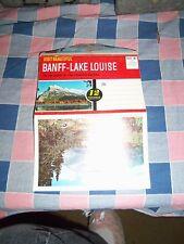 Old Postcard Folder Visit Beautiful Banff-Lake Louise Heart Canadian Rockies