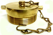 2 12 Nst Nh Fire Hose Hydrant Plug With Chain Polished Brass Fdc Plug