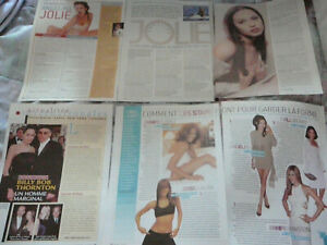 ANGELINA JOLIE CLIPPINGS PICTURES PHOTOS LOT + 1 CARD