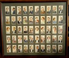More details for 1934 wills cigarette cards framed radio celebrities 1st series full set of 50