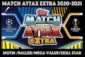 TOPPS CHAMPIONS LEAGUE MATCH ATTAX EXTRA 2020/21 20/21 FOIL CARDS