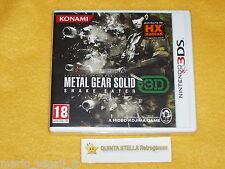 METAL GEAR SOLID SNAKE EATER 3D x Nintendo 3DS versione ITALIANA NUOVO SIGILLATO