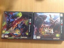 """TWO Monster Hunter 3G & 4 Japanese 3DS Games USA SELLER Region Locked NTSC-J"""""""