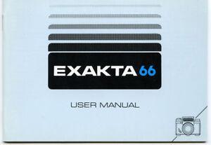 Anleitung / Manual PENTACON EXAKTA 66 - english - original