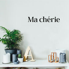 Vinyl Wall Art Decal - Ma Cherie - 3* x 18* - Trendy Cute Inspirational French