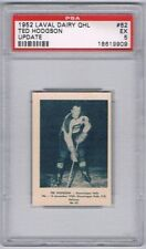 1952 Laval Dairy QHL Update Hockey Card Shawinigan Falls T. Hodgson Graded PSA 5