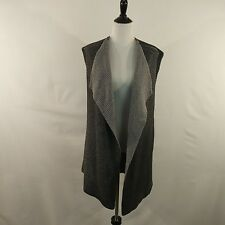 Nic + Zoe XL Grey Sequin Sleeveless Open Front Duster Length Sweater office