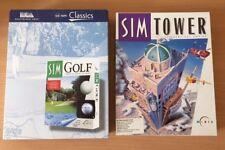 Sim GOLF & Sim Torre Original Caja Grande Juegos Para Pc -- completa -- GC