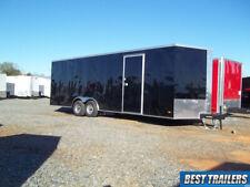 8 X 24 New Enclosed Carhauler Trailer Cargo Black Car Hauler Led 5k Axles 85x24