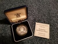 Russia Silver Medallion with COA - October 1994 - Royal Visit to Russia