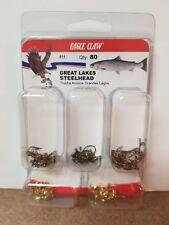 Eagle Claw Great Lakes Steelhead Hook Kits #611 80 HOOKS TROUT & CRAPPIE