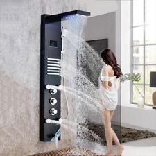 ORB Edelstahl Wasserfall Regendusche Massagedüsen LED Duschpaneel Duschsäule
