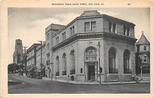 B81/ Red Lion Pennsylvania Pa Postcard c1920 Broadway from Main Street Bank?