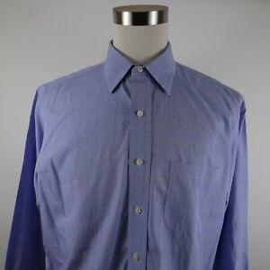 Brooks Brothers 346 Mens Non Iron LS Button Up Light Blue Plaid Shirt 16.5 2/3