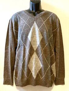 Daniel Crémieux Signature Collection Men's Alpaca Sweater, Gray, Argyle- XL, NWT