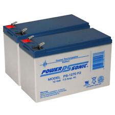 Power-Sonic 2 Pack - 12V 7AH SLA Battery Replaces hr9-12 gp1270 sla1075 gp1270f2