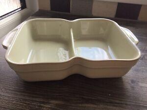 Denby Linen Double Serving Large 28cm X21cm Dish New Unused