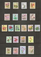 Belgium Congo SC # 263-284 Flowers In Natural Colors. Complete Set. MNH