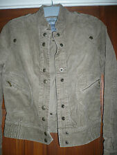 WAREHOUSE CORDUROY BIKER STYLE JACKET size 6 - 8 UK EUR 34 - 34 inch chest BNEW