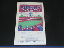 More details for  1953-54 fa cup 3rd round burnley v manchester united
