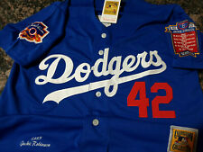 LA Dodgers #42 Jackie Robinson cooperstown Limited Edition Patch sewn Jersey BLU
