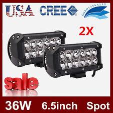 2X 6.5'' CREE LED Work Light Bar Spot Driving Car Truck SUV Offroad Jeep 12V 24V