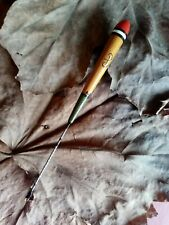 Long Trotting Stick Float vintage style Fishing match Centrepin Reel & Cane Rod.