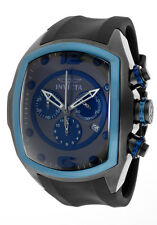 INVICTA LUPAH CHRONOGRAPH DATE BLACK POLYURETHANE STRAP MEN'S WATCH 10066 NEW