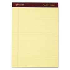 Ampad Gold Fibre Writing Pads Legal/Wide 8 1/2 x 11 3/4 Canary 50 Sheets 4/Pack