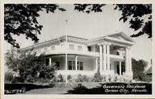 Exterior View Governor's Residence Carson City Nv Rppc Real Photo Postcard B36