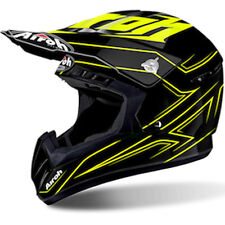 Casco Moto Cross Enduro MTB Airoh Modello SWITC SPANSER Yellow Gloss 2017 TG S
