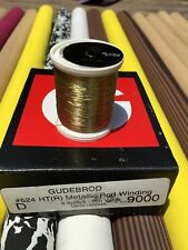 Gudebrod HT Metallic Fishing Rod Winding thread  Size D, Color Gold  9000.  1...