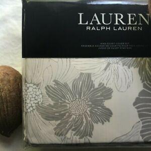 LAUREN RALPH LAUREN Allaire Cotton Reversible Floral KING Duvet Cover Set