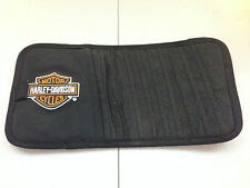 Genuine Harley Davidson Black w/ H-D Logo 10 CD Holder Visor Organizer