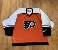 Philadelphia Flyers Vintage 90's Nike Hockey Jersey Mens XL EUC RARE