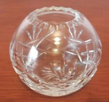 Small Crystal Rose Bowl Style Vase or Tealight Holder