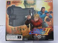 TIME CRISIS II + GUNCON 2 BUNDLE PISTOLA GUN CON SONY PS2 PLAYSTATION IMPORT JAP