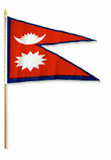 "12x18 12""x18"" Nepal Stick Flag wood staff"