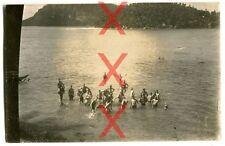 KREUZER EMDEN - orig. Foto, Badende Besatzung, Port Victoria, Seychellen 1926-28
