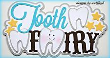 Craftecafe Tooth Kid Title paper piecing premade scrapbook diecut piece Wolffey5