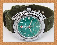 "Vostok  "" KOMANDIRSKIE"" russian military mechanical watch # 211307 new*"